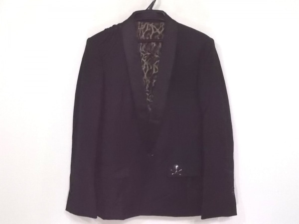 Roen(ロエン) ジャケット サイズ46 XL メンズ 黒×ネイビー スカル/刺繍