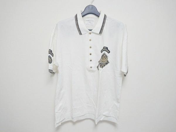 VALENZA PO SPORTS(バレンザポースポーツ) 半袖ポロシャツ メンズ 白×黒