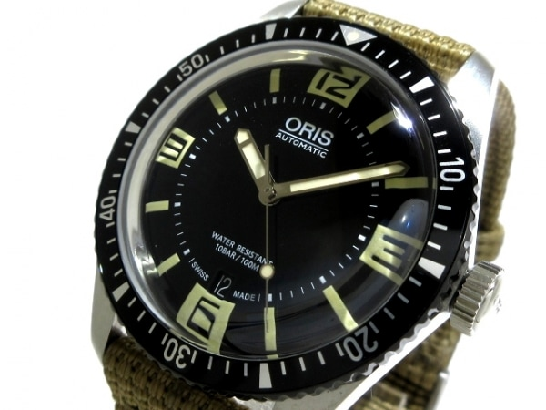 ORIS(オリス) 腕時計美品  ダイバーズ65 7707 メンズ 黒