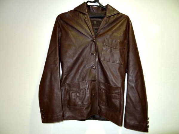 GNERRE(グネーレ) ジャケット サイズ40 M レディース ダークブラウン レザー
