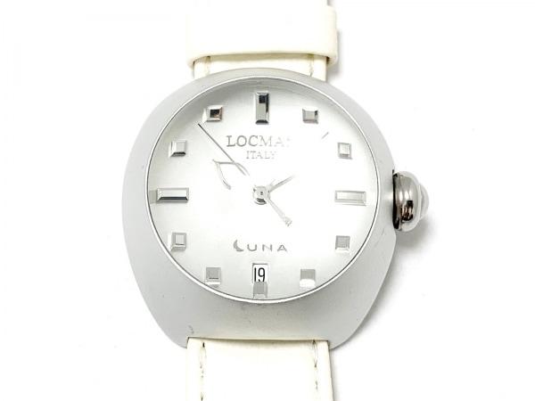 LOCMAN(ロックマン) 腕時計美品  LUNA 041 レディース 革ベルト シルバー