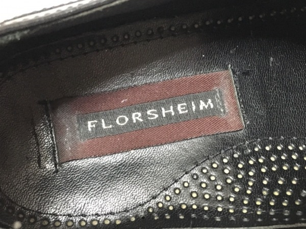 FLORSHEIM(フローシャイム) シューズ 8 メンズ 黒 ストレートチップ レザー