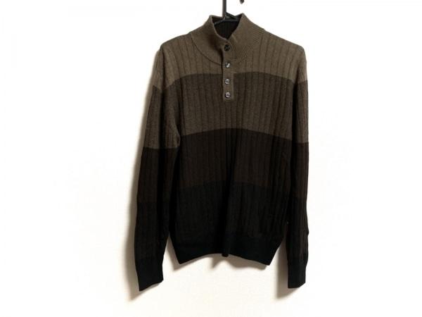 コルネリアーニ 長袖セーター メンズ新品同様  ダークブラウン×ブラウン×ベージュ
