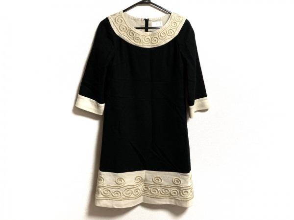 グレースクラス ワンピース サイズ36 S レディース美品  黒×アイボリー 刺繍