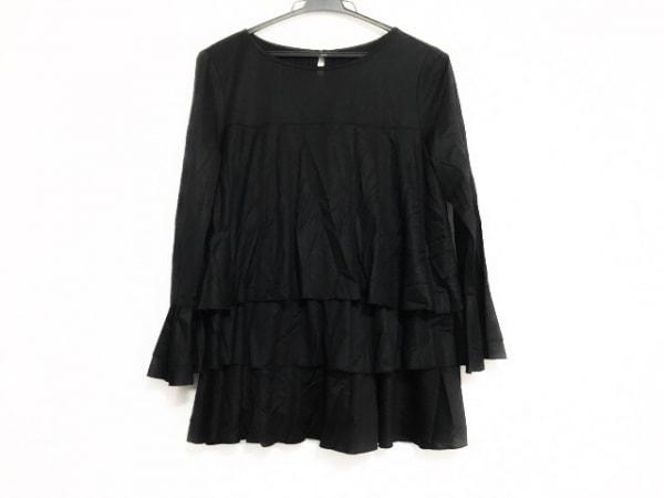 wb(ダブリュービー) 長袖カットソー サイズ38 M レディース美品  黒 フリル