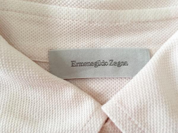 ErmenegildoZegna(ゼニア) 半袖ポロシャツ サイズS48 メンズ美品  ピンク