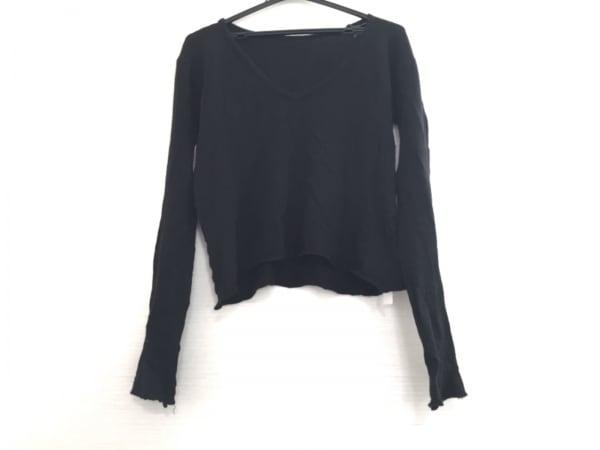 yohjiyamamoto(ヨウジヤマモト) 長袖セーター サイズ3 L レディース 黒