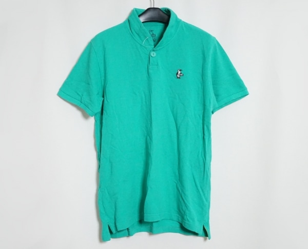 CHUMS(チャムス) 半袖ポロシャツ サイズL メンズ グリーン