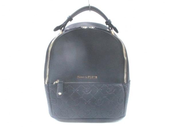 Maison de FLEUR(メゾンドフルール) リュックサック美品  黒 リボン 合皮