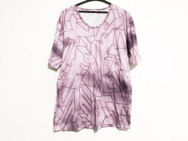 ランバンオンブルー 半袖Tシャツ サイズ52 メンズ美品  ピンク×パープル×マルチ