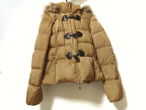 イブルース ダウンジャケット サイズ42 L レディース美品  ライトブラウン CLUB/冬物
