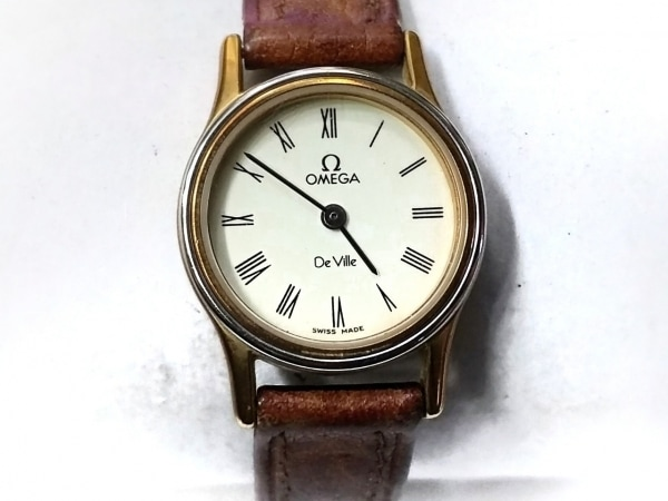 OMEGA(オメガ) 腕時計 デビル - レディース 革ベルト アイボリー