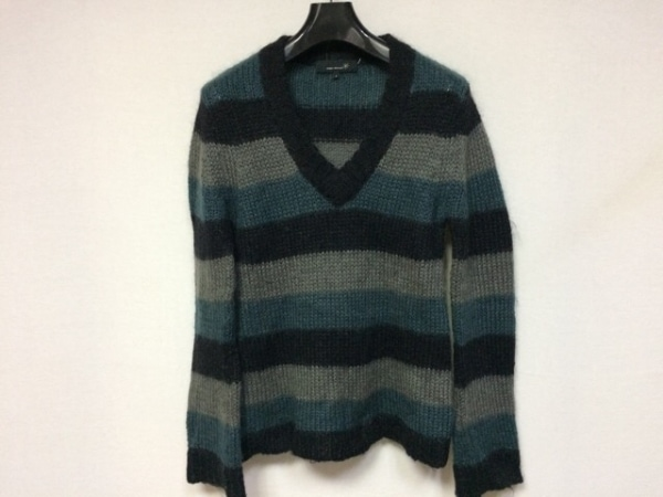 イザベルマラン 長袖セーター サイズ2 M レディース美品  黒×ダークグリーン×グレー
