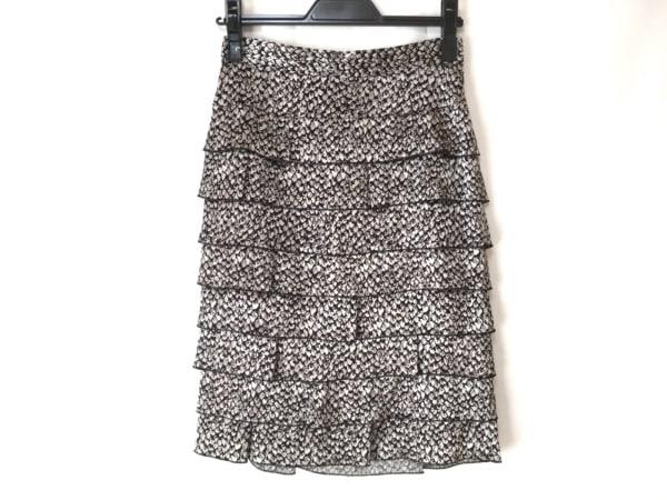 wb(ダブリュービー) スカート サイズ36 S レディース グレー×黒 ティアード