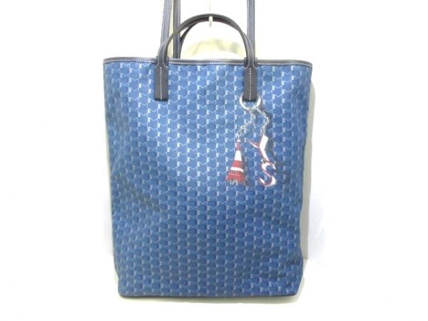 MOYNAT(モワナ) トートバッグ美品  クアトロ ブルー×ネイビー×グレー