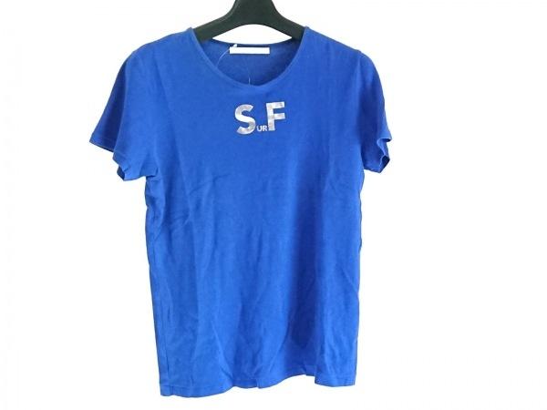 TARO HORIUCHI(タロウホリウチ) 半袖Tシャツ サイズ1 S レディース ブルー×シルバー