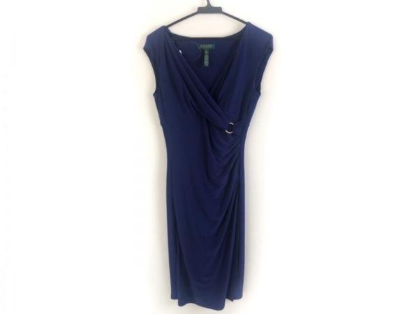 ラルフローレン ドレス サイズ4 S レディース美品  ブルー カシュクール/LAUREN/DRESS