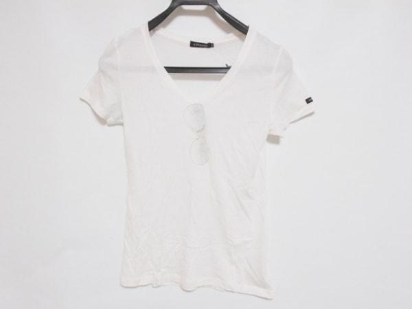 ラブレス 半袖Tシャツ サイズ34 S レディース美品  アイボリー×ライトブルー×グレー