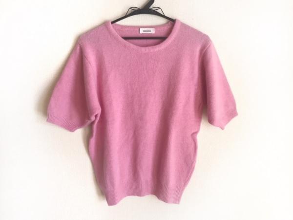 MAXIMA(マキシマ) 半袖セーター レディース ピンク