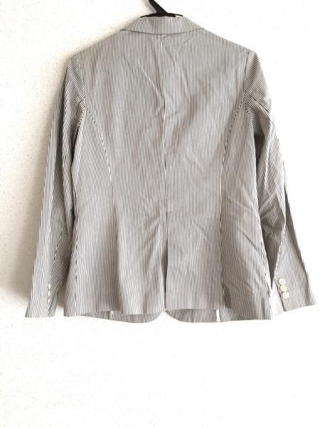 BEAMS(ビームス) ジャケット サイズ38 M レディース美品  白×グレー ストライプ