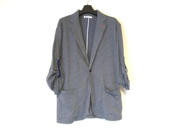 メンズメルローズ ジャケット サイズ3 L メンズ グレー×ネイビー×レッド 春・秋物