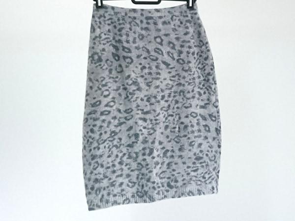 クリッツィアマグリア スカート サイズ42 L レディース ライトグレー×ダークグレー