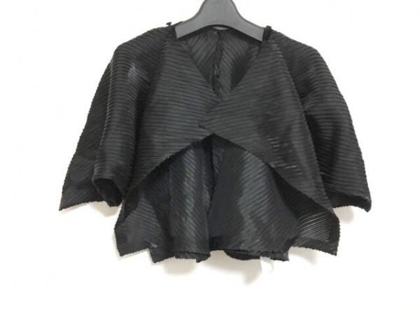 イッセイミヤケ ボレロ サイズ2 M レディース美品  黒 変形デザイン/光沢感あり