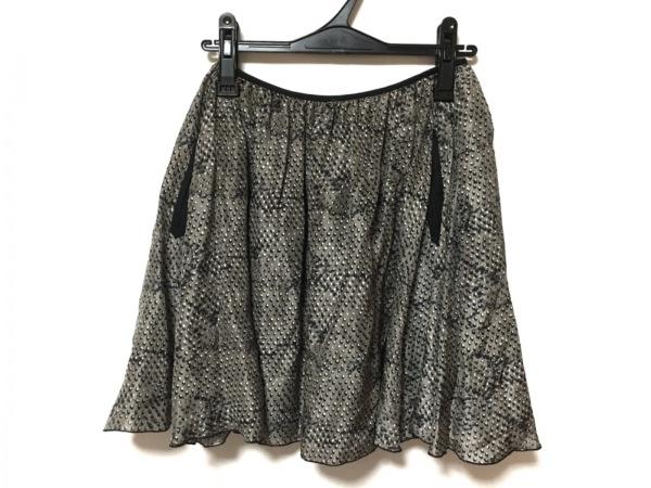 OSHIMA REI(オオシマ レイ) スカート レディース美品  グレー×黒×白