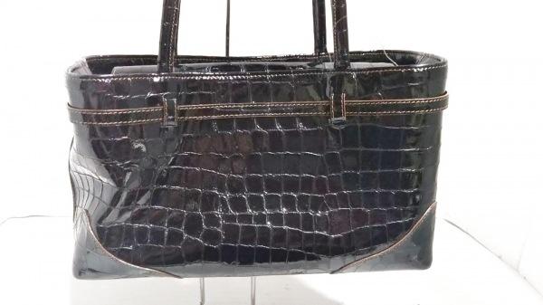 MAMUZ(マミューズ) ハンドバッグ美品  黒 エナメル(レザー)