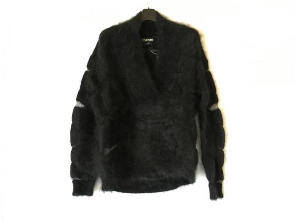 TOM FORD(トムフォード) 長袖セーター サイズM レディース美品  黒 ワイヤー