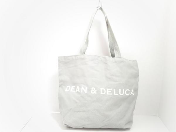 DEAN&DELUCA(ディーンアンドデルーカ) トートバッグ美品  ライトグレー キャンバス
