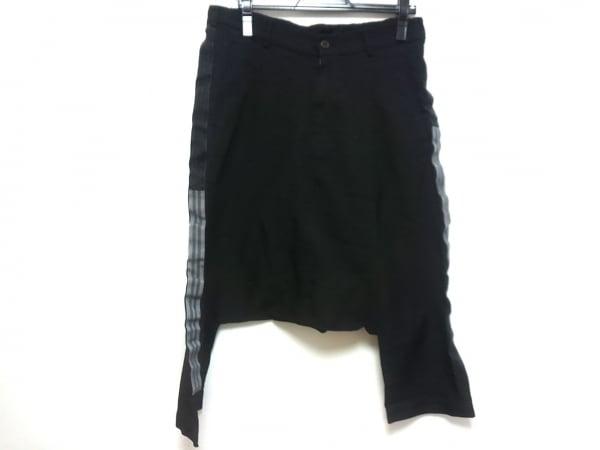 COMMEdesGARCONS(コムデギャルソン) パンツ サイズS レディース 黒×グレー ラメ