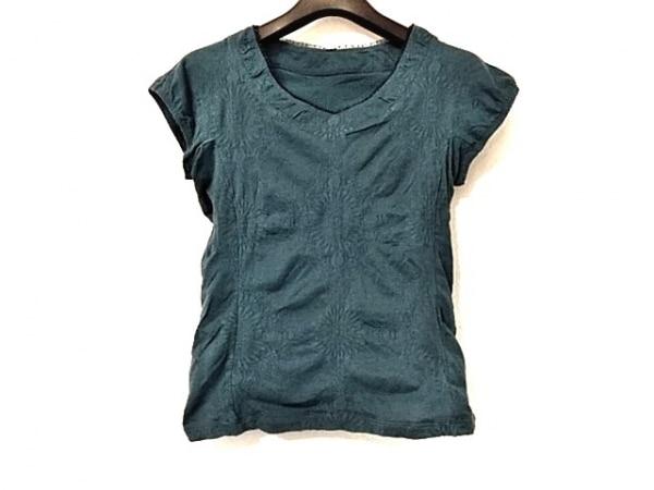 HIROKO BIS(ヒロコビス) 半袖Tシャツ サイズ9 M レディース美品  グリーン 花柄