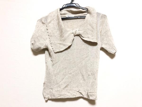 Lois CRAYON(ロイスクレヨン) 半袖セーター サイズM レディース ベージュ