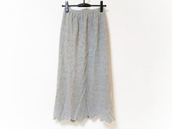 JURGEN LEHL(ヨーガンレール) ロングスカート サイズL レディース グレー×ベージュ