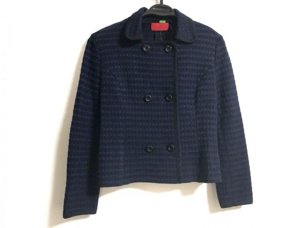 ロベルタ ディ カメリーノ ジャケット サイズ38 M レディース美品  ネイビー×黒