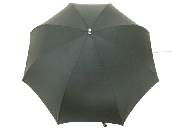 ゴルチエオム 折りたたみ傘美品  黒×シルバー 化学繊維×金属素材