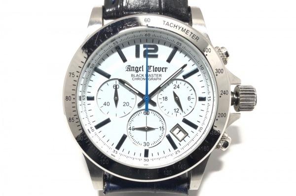 Angel Clover(エンジェルクローバー) 腕時計 BM41 メンズ 革ベルト/クロノグラフ 白