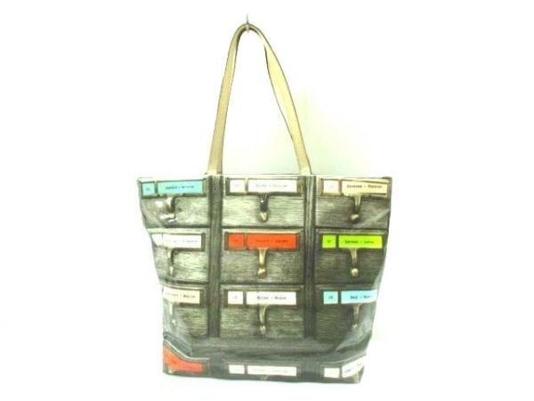 ケイトスペード トートバッグ PXRU4507 ダークブラウン×ベージュ×マルチ
