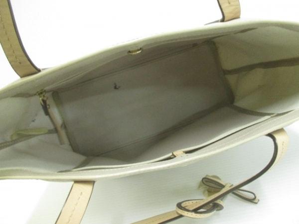 ケイトスペード トートバッグ PXRU5754 グレージュ×アイボリー×ベージュ ボーダー