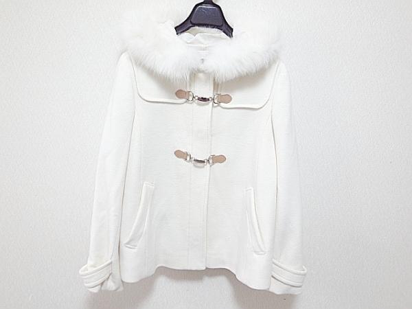 anySiS(エニシス) コート サイズ3 L レディース 白 冬物/ショート丈/ファー