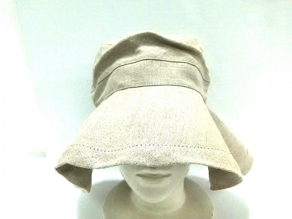 fog linen work(フォグリネンワーク) 帽子 ライトブラウン 麻