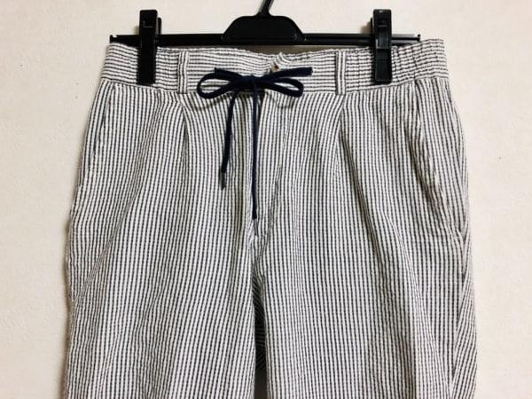 LINEA(リネア) パンツ サイズM レディース 白×ネイビー ストライプ