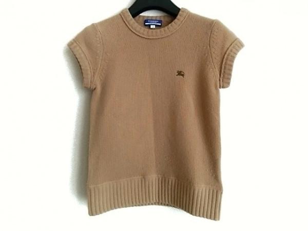 バーバリーブルーレーベル 半袖セーター サイズ38 M レディース ライトブラウン