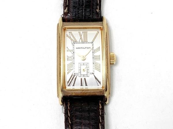 HAMILTON(ハミルトン) 腕時計 6266 レディース 革ベルト シルバー