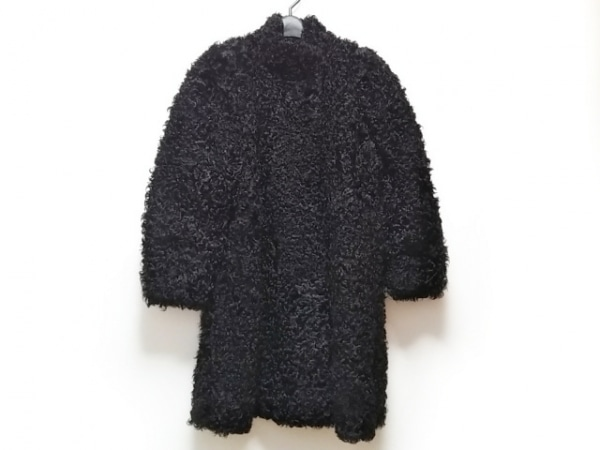 EMBA(エンバ) コート レディース美品  黒 ファー/冬物
