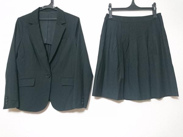 ru(アールユー) スカートスーツ サイズ13 L レディース 黒 ストライプ