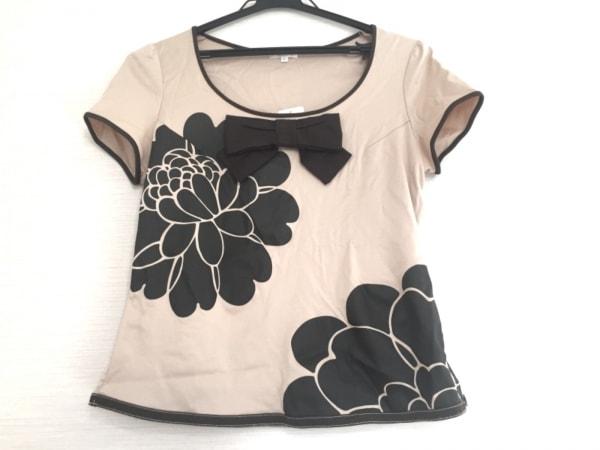 トゥービーシック 半袖Tシャツ サイズ2 M レディース ベージュ×ダークブラウン