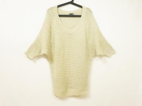 Le souk(ルスーク) 半袖セーター サイズ38 M レディース ベージュ ラメ/ニット