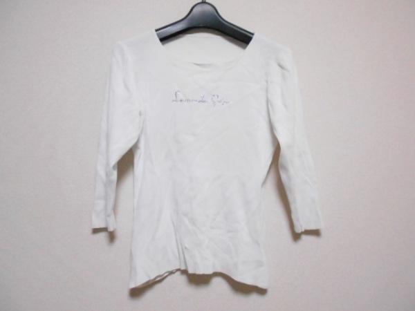 伊太利屋/GKITALIYA(イタリヤ) 半袖カットソー サイズ11 M レディース 白 プリーツ